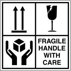 fragile handle with care 샘플