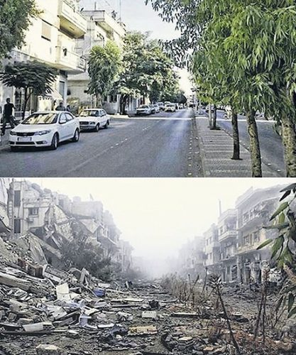 Homs Syria Before & After